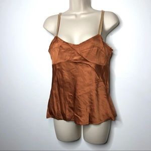 Marni cooper gold cami corset tank 38 2 A2